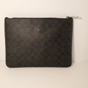 Coach Signature Large Pouch NWT